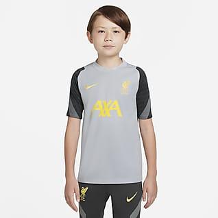 Liverpool FC Strike Koszulka piłkarska z krótkim rękawem dla dużych dzieci Nike Dri-FIT