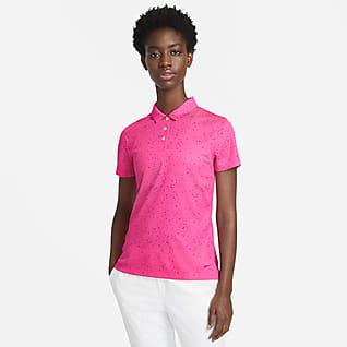 Nike Dri-FIT Γυναικεία εμπριμέ κοντομάνικη μπλούζα πόλο για γκολφ