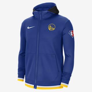 Golden State Warriors Nike Showtime Nike Dri-FIT NBA-Hoodie mit durchgehendem Reißverschluss für Herren