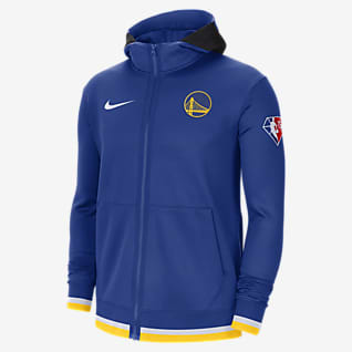 Golden State Warriors Nike Showtime Męska bluza z kapturem i zamkiem na całej długości Nike Dri-FIT NBA