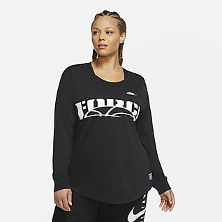Nike Sportswear Playera manga larga para mujer (talla grande)
