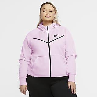 Nike Sportswear Tech Fleece Windrunner Damen-Hoodie mit durchgehendem Reißverschluss (große Größe)