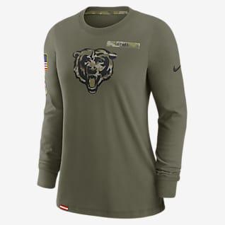 Nike Dri-FIT Salute to Service (NFL Chicago Bears) Women's Long-Sleeve T-Shirt