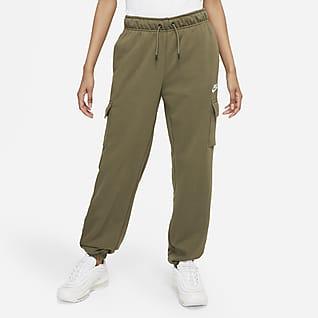 Nike Sportswear Essentials Cargobroek met halfhoge taille voor dames