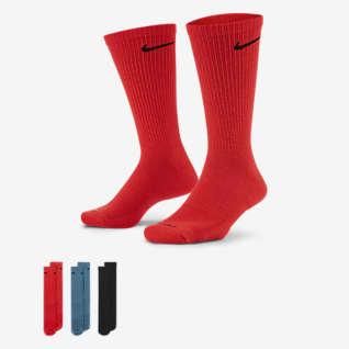 Nike Everyday Plus Cushioned ถุงเท้าเทรนนิ่งข้อยาว (3 คู่)