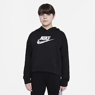 Nike Sportswear Club Big Kids' (Girls') Hoodie (Extended Size)