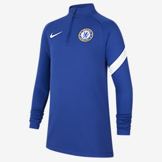 Chelsea FC Academy Pro Nike Dri-FIT Fußball-Drill-Oberteil für ältere Kinder