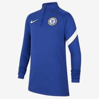 Chelsea FC Academy Pro Nike Dri-FIT Genç Çocuk Futbol Antrenman Üstü