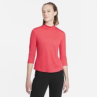 Nike Dri-FIT UV Ace Γυναικεία μπλούζα γκολφ με ψηλό γιακά
