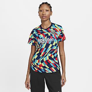 FC Barcelona Camiseta de fútbol de manga corta para antes del partido - Mujer