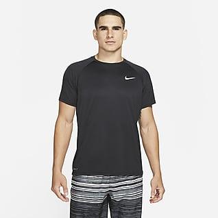 Nike Essential Camiseta Hydroguard de natación de manga corta para hombre