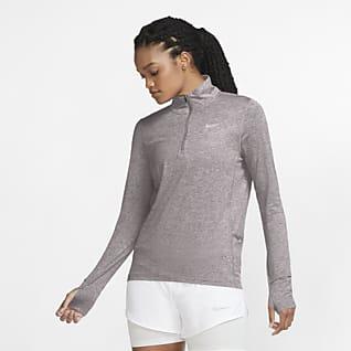 Nike Camisola de running com fecho até meio para mulher