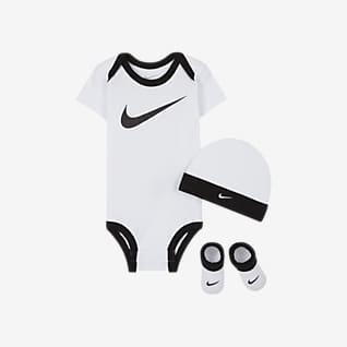 Nike Baby Bib and Booties Set