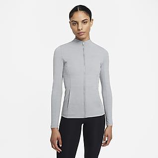 Nike Yoga Luxe Dri-FIT Damenjacke mit durchgehendem Reißverschluss