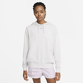 Nike Sportswear Collection Essentials Γυναικεία φλις μπλούζα με κουκούλα σε άνετη γραμμή