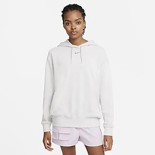 Nike Sportswear Collection Essentials Fleecehuvtröja för kvinnor