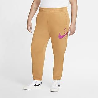 Nike Sportswear Swoosh Pantalones de tejido Fleece para mujer (talla grande)