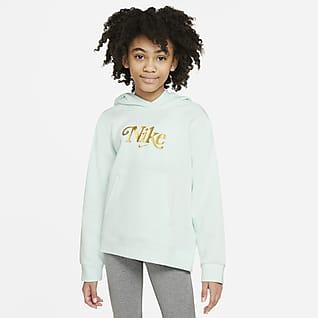 Nike Sportswear Club Fleece Mikina s kapucí pro větší děti (dívky)