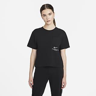 Nike Sportswear Swoosh Kortärmad tröja för kvinnor