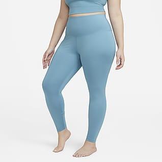Nike Yoga Magas derekú, 7/8-os női leggings (plus size méret)