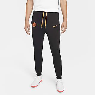 Chelsea FC Męskie spodnie piłkarskie z dzianiny Nike Dri-FIT
