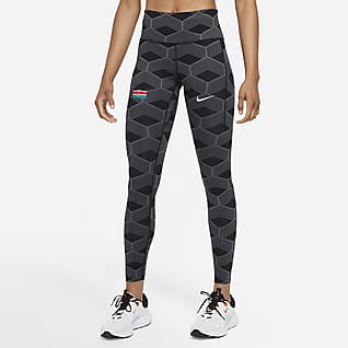 Nike Team Kenya Epic Luxe Leggings de running de cintura normal para mulher