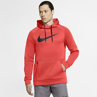 Nike Therma Sudadera con capucha de entrenamiento sin cierre con Swoosh para hombre