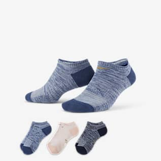 Nike Everyday Cushioned ถุงเท้าเทรนนิ่งผู้หญิงแบบซ่อน (3 คู่)