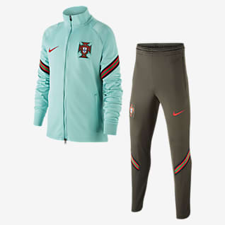 Portugal Strike Older Kids' Football Tracksuit
