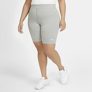 Nike Sportswear Essential Dámské cyklistické kraťasy se středně vysokým pasem (větší velikost)