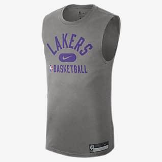 洛杉矶湖人队 Nike Dri-FIT NBA 男子训练印花无袖T恤