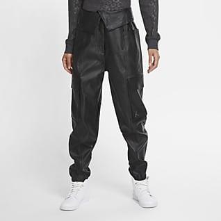Jordan Court-To-Runway Suni Deri İşlevsel Kadın Pantolonu