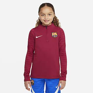 F.C. Barcelona Strike Older Kids' Football Drill Top