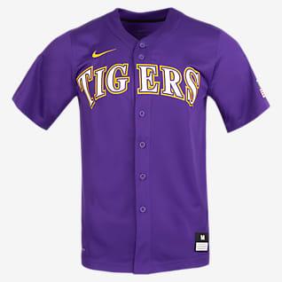 Nike College (LSU) Camiseta de béisbol con botones para hombre
