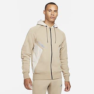 Nike Sportswear Air Max Hosszú cipzáras, kapucnis férfi polárpulóver
