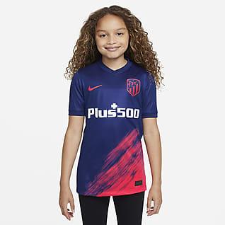 Atlético Madrid de visitante Satadium 2021/22 Camiseta de fútbol para niños talla grande