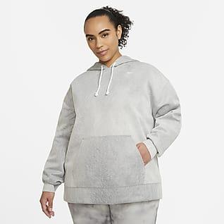 Nike Icon Clash Pullover-træningshættetrøje til kvinder (plus size)