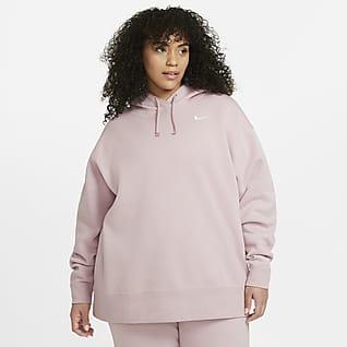Nike Sportswear Sweatshirt i fleece til kvinder (Plus Size)