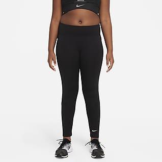Nike Dri-FIT One Леггинсы с графикой для девочек школьного возраста (расширенный размерный ряд)
