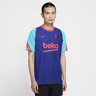 FC Barcelona VaporKnit Strike Kortærmet fodboldtrøje til mænd