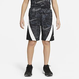 Nike Dominate กางเกงเทรนนิ่งขาสั้นเด็กโตพิมพ์ลาย (ชาย)
