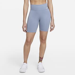 Nike One Shorts de ciclismo de 18 cm y tiro medio para mujer