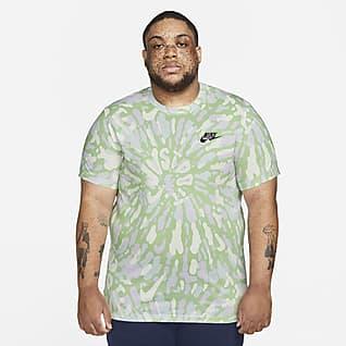 Nike Sportswear Men's Black Light Tie-Dye T-Shirt