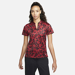 Nike Dri-FIT Victory Golfskjorte med trykk til dame