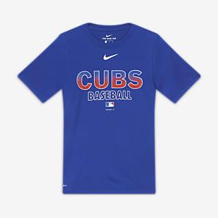 Nike Practice (MLB Cubs) Playera para niño talla grande