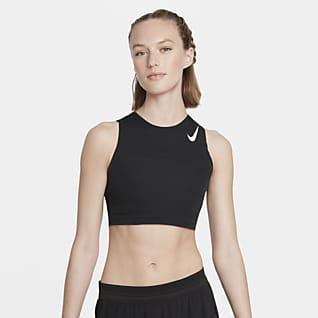 Nike AeroSwift Женская укороченная майка для бега