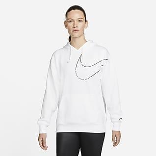 Nike Therma-FIT Sudadera con gorro de entrenamiento sin cierre de tejido Fleece para mujer