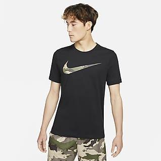 Nike Dri-FIT 男款圖樣訓練 T 恤