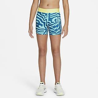 """Nike Pro Big Kids' (Girls') 3"""" Printed Shorts"""