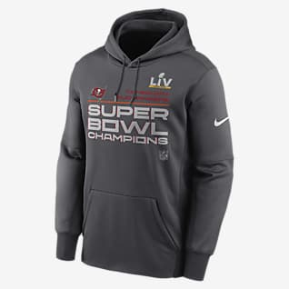 Nike Therma Super Bowl LV Champions Trophy Collection (NFL Tampa Bay Buccaneers) Men's Pullover Hoodie